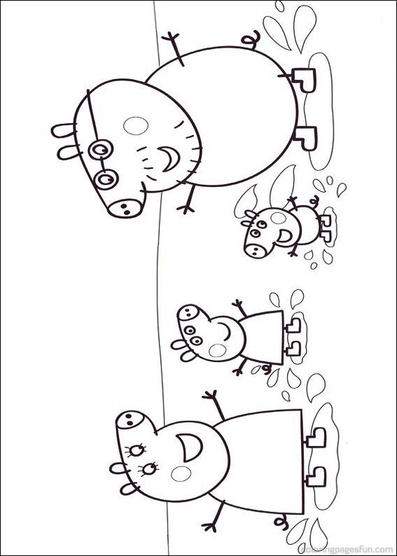 Coloriage et dessins gratuits Peppa Pig 19 à imprimer
