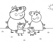Coloriage dessin  Peppa Pig 2
