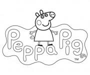 Coloriage et dessins gratuit Peppa Pig 21 à imprimer