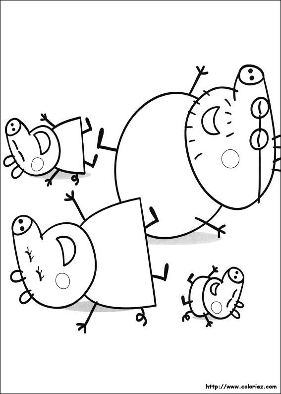 Coloriage et dessins gratuits Peppa Pig 22 à imprimer
