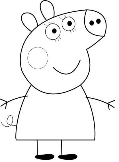 Coloriage et dessins gratuits Peppa Pig 27 à imprimer