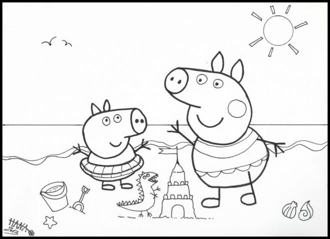 Coloriage et dessins gratuits Peppa Pig 28 à imprimer