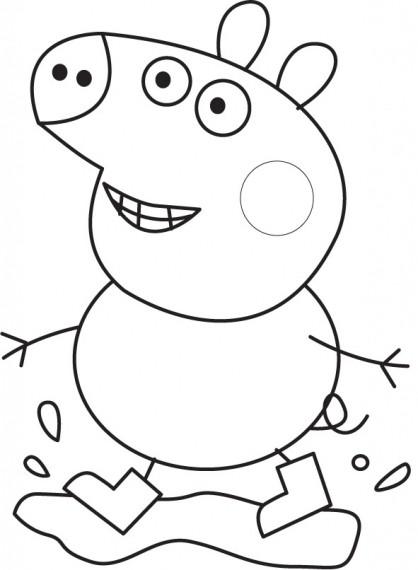 Coloriage et dessins gratuits Peppa Pig 32 à imprimer