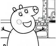 Coloriage peppa pig 1 gratuit imprimer en ligne - Dessin anime de peppa cochon ...