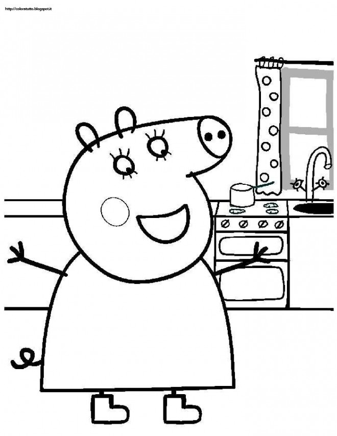 Coloriage et dessins gratuits Peppa Pig 38 à imprimer