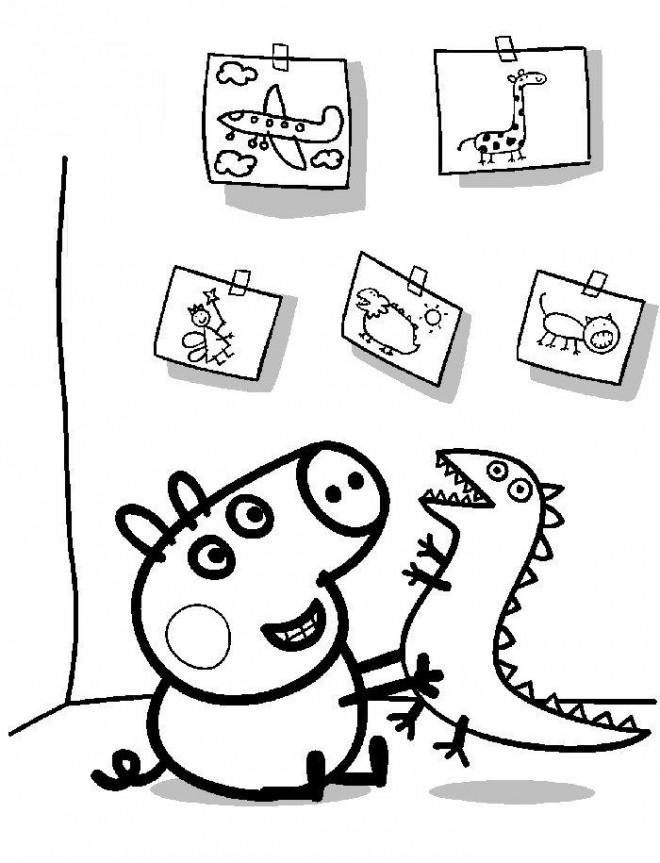 Coloriage et dessins gratuits Peppa Pig 39 à imprimer