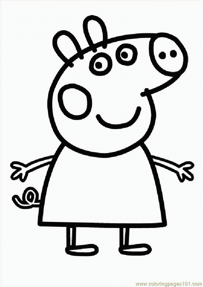 Coloriage et dessins gratuits Peppa Pig 43 à imprimer