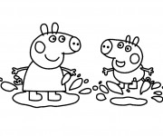 Coloriage dessin  Peppa Pig 5