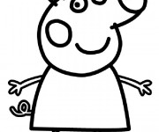 Coloriage dessin  Peppa Pig 6