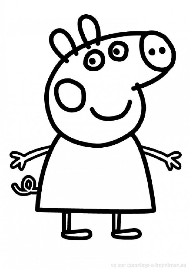 Coloriage et dessins gratuits Peppa Pig 6 à imprimer