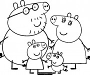 Coloriage dessin  Peppa Pig 8