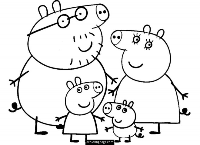 Coloriage et dessins gratuits Peppa Pig 8 à imprimer
