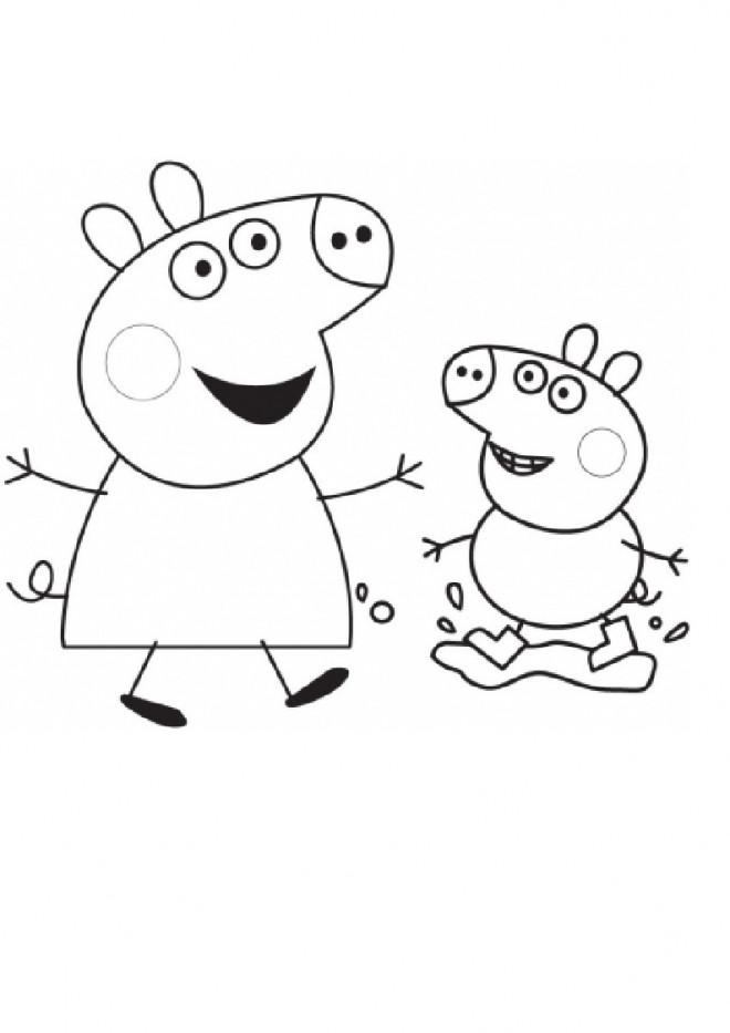 Coloriage et dessins gratuits Peppa Pig à colorier à imprimer