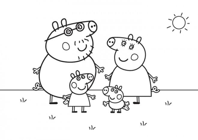 Coloriage Peppa Pig Cochon Dessin Gratuit à Imprimer