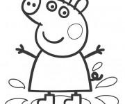 Coloriage et dessins gratuit Peppa Pig dessin animé à imprimer