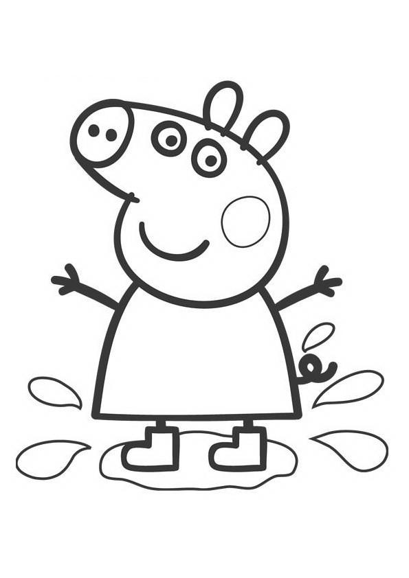 Coloriage Peppa Pig Dessin Animé Dessin Gratuit à Imprimer