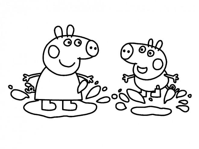Coloriage et dessins gratuits Peppa Pig en ligne à imprimer