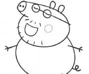 Coloriage Peppa Pig humoristique