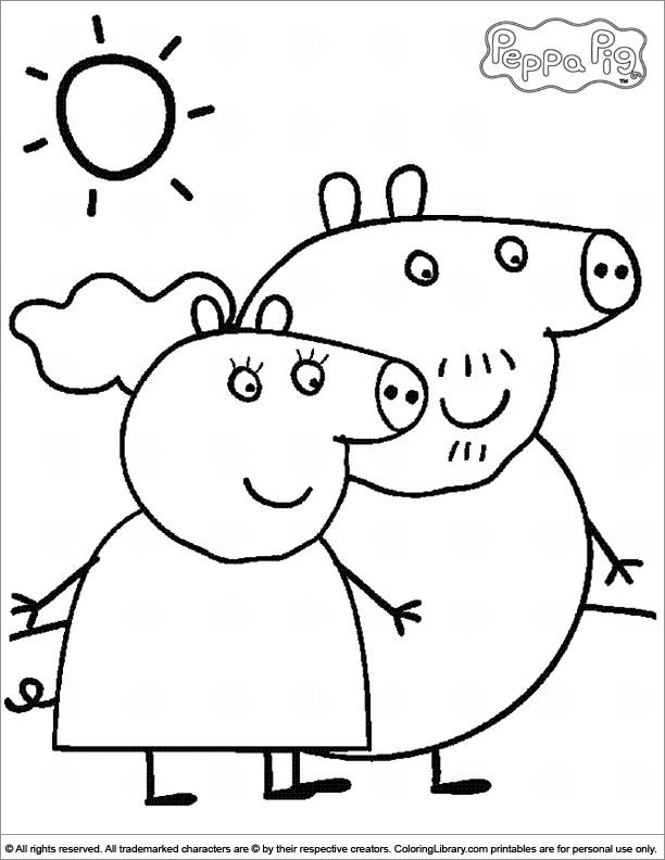 Coloriage peppa pig maternelle dessin gratuit imprimer - Dessin a imprimer peppa pig ...
