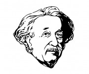 Coloriage Albert Einstein dessin