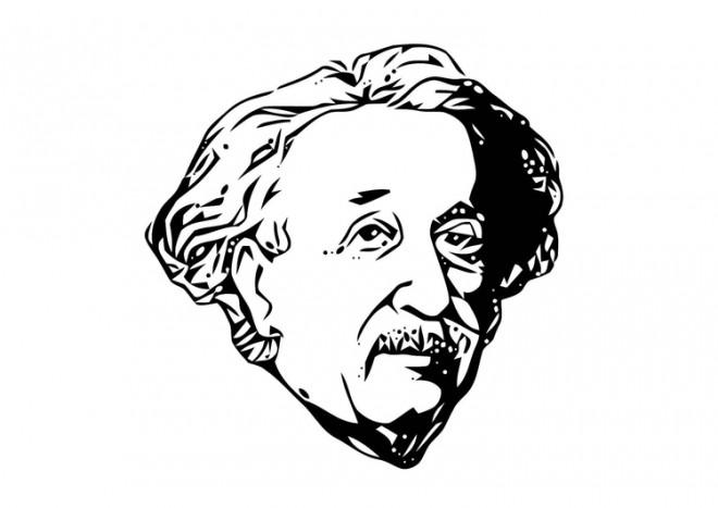 Coloriage et dessins gratuits Albert Einstein dessin à imprimer