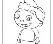 Coloriage Bébé Einstein dessin facile