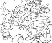 Coloriage et dessins gratuit Les petit Einstein en ligne à imprimer