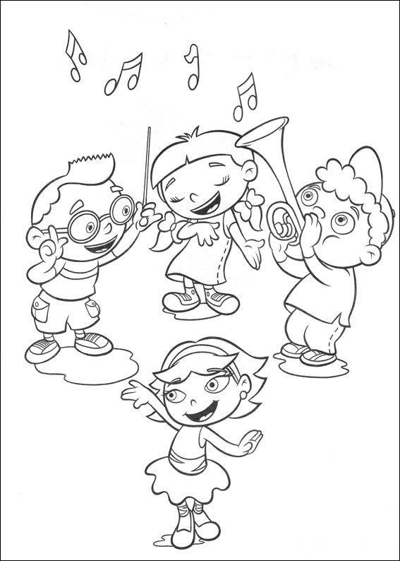 Coloriage et dessins gratuits Les Petit Einstein s'amusent en couleur à imprimer