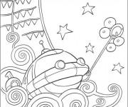 Coloriage et dessins gratuit Petit Einstein découvrent la mer à imprimer