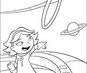 Coloriage et dessins gratuit Petit Einstein et les planètes en ligne à imprimer