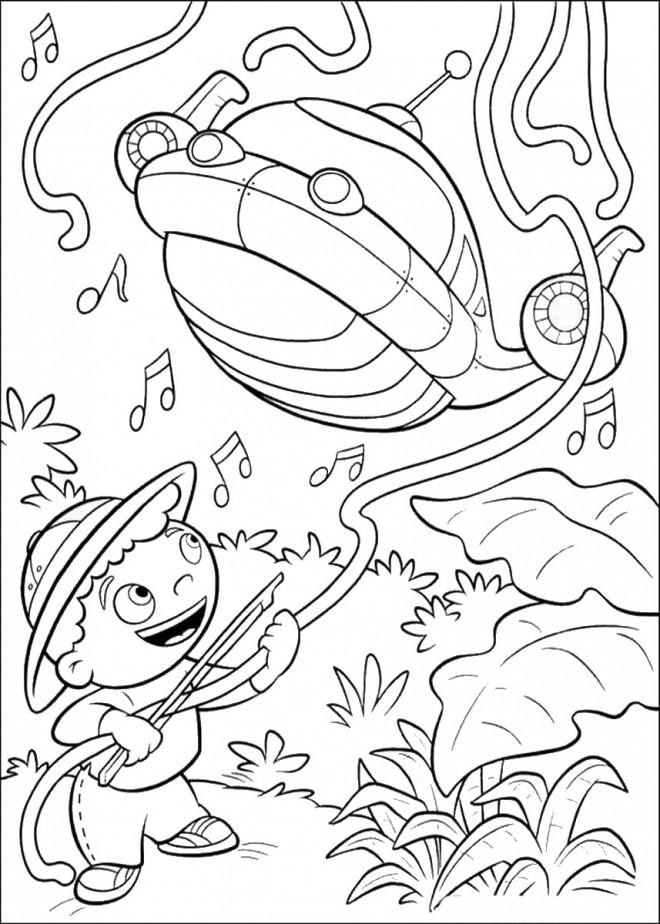 Coloriage et dessins gratuits Petit Einstein et musique dessin à imprimer