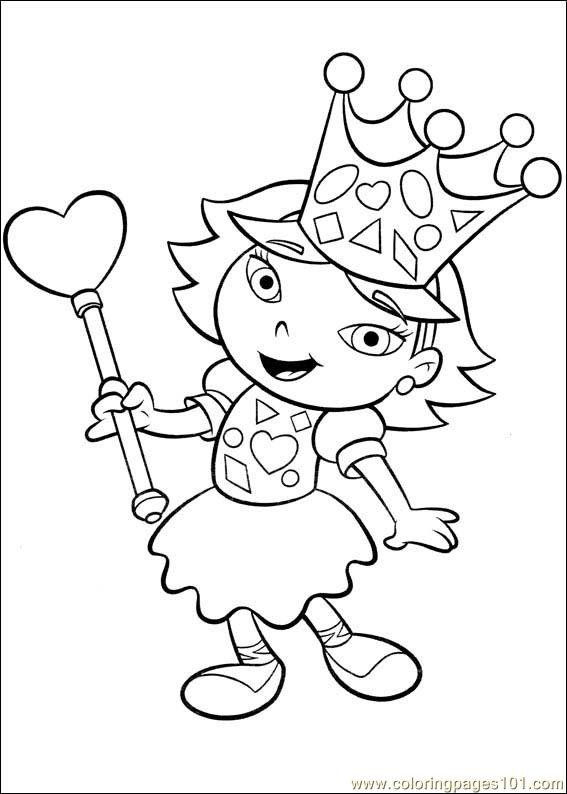 Coloriage et dessins gratuits Petit Einstein princesse à télécharger à imprimer