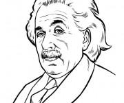 Coloriage Portrait ALbert Einstein en ligne