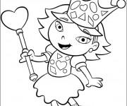 Coloriage et dessins gratuit Portrait fille et coeur à imprimer