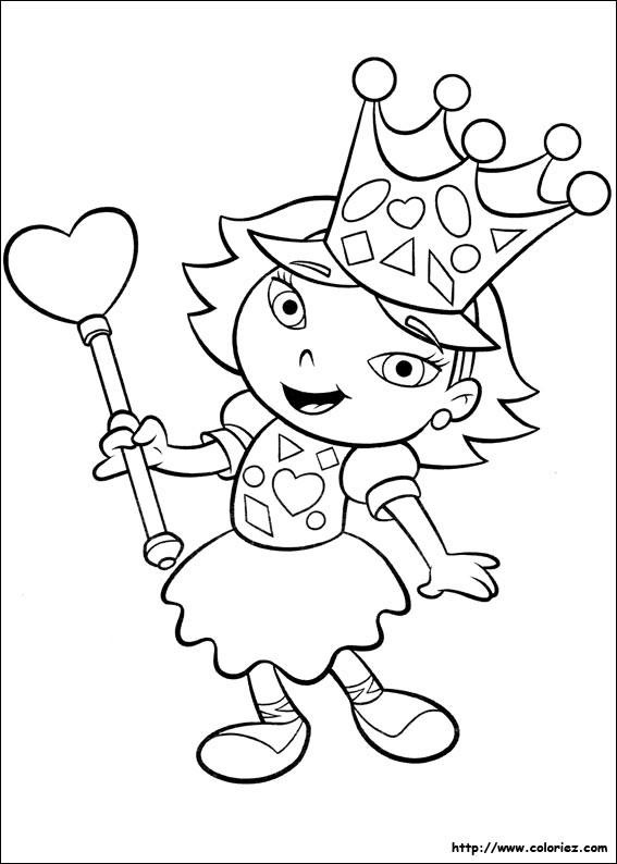 Coloriage et dessins gratuits Portrait fille et coeur à imprimer