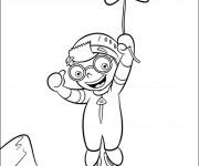 Coloriage et dessins gratuit Une petite Einstein atrrape une étoile à imprimer