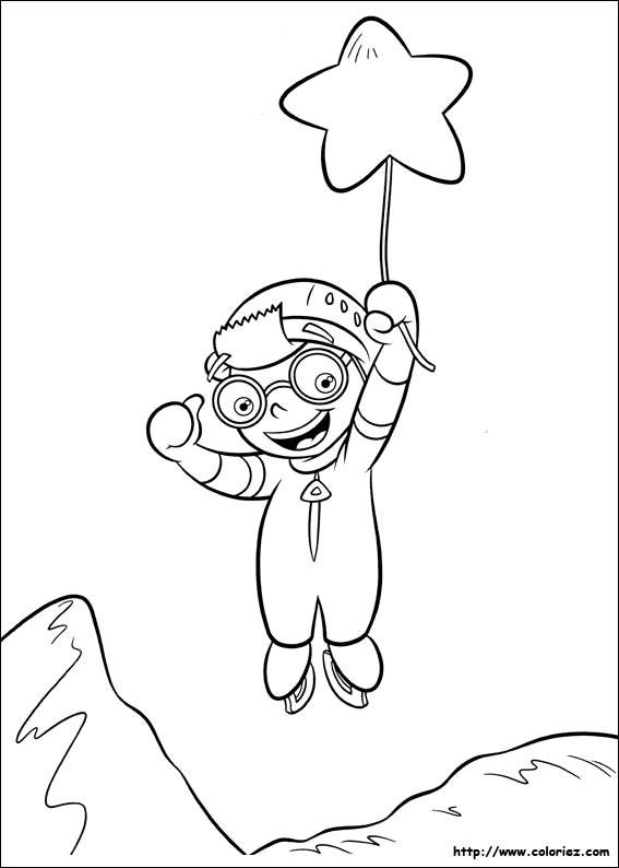 Coloriage et dessins gratuits Une petite Einstein atrrape une étoile à imprimer