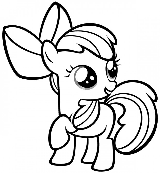 Coloriage Bebe Poney.Coloriage Apple Bloom De Mon Petit Poney Dessin Gratuit A Imprimer
