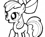 Coloriage Apple Bloom facile