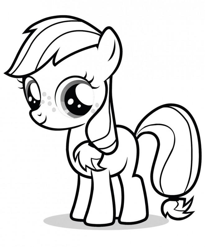 Coloriage et dessins gratuits Applejack de Mon Petit Poney à imprimer