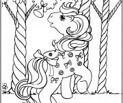 Coloriage L'adorable Petit Poney se promène
