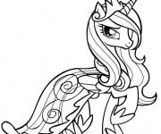 Coloriage La princesse Celestia de Mon Petit Poney
