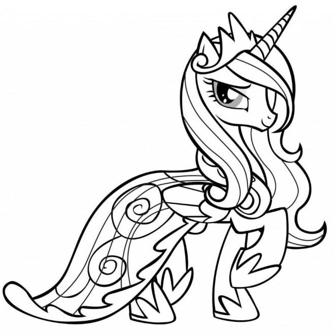Coloriage la princesse celestia de mon petit poney - Coloriage princesse celestia ...