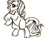 Coloriage et dessins gratuit Le licorne de Mon petit Poney à imprimer