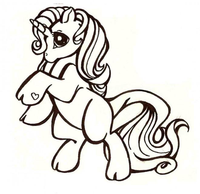 Coloriage et dessins gratuits Le licorne de Mon petit Poney à imprimer