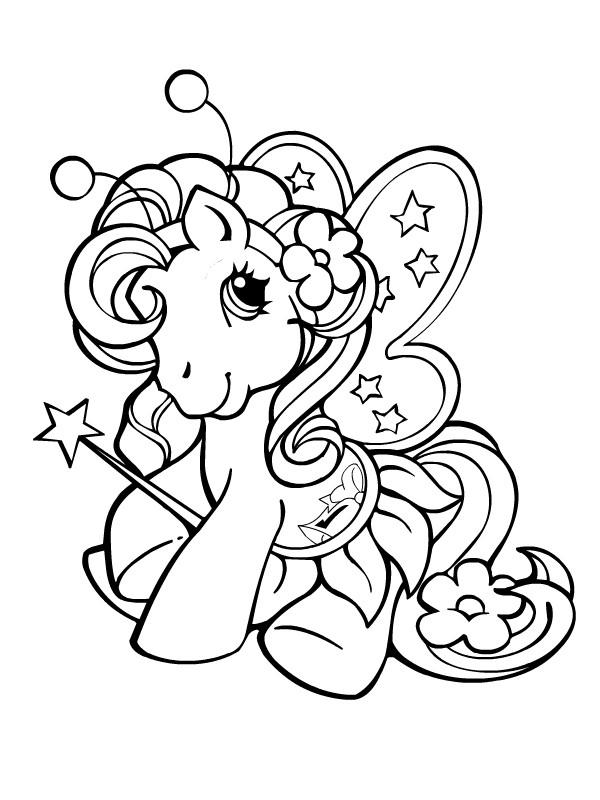 Coloriage et dessins gratuits Le mignon: Mon petit poney à imprimer