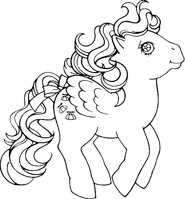 Coloriage et dessins gratuits Le Petit Poney bondit à imprimer