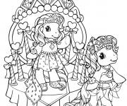 Coloriage Les princesses de Mon petit poney