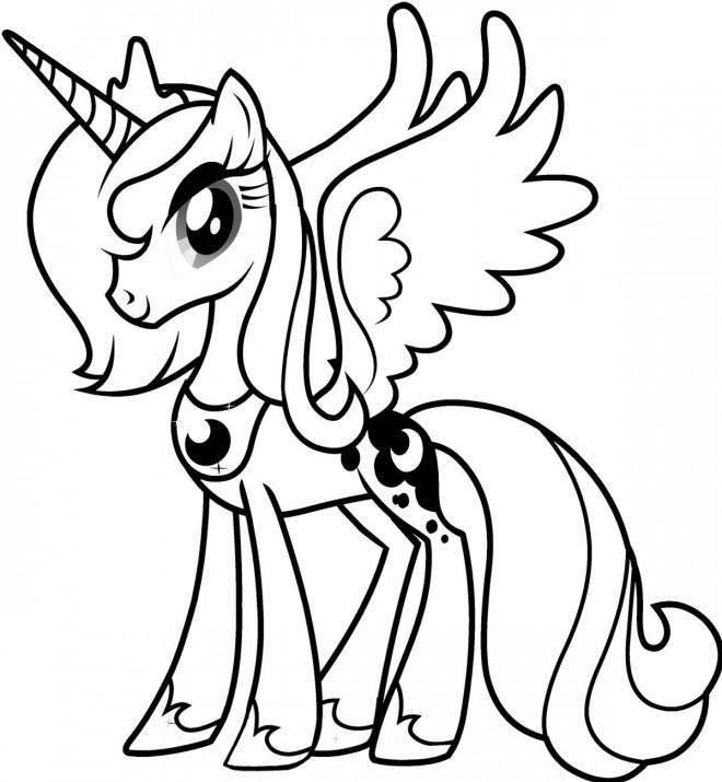 Coloriage luna de mon petit poney dessin gratuit imprimer - Dessin anime avec des poneys ...