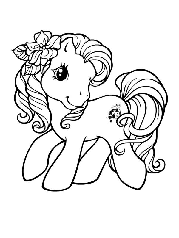 Coloriage Mon Petit Poney adorable dessin gratuit à imprimer